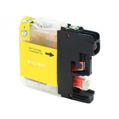 Brother compatible inkjet cartridge LC103Y Yellow high yield