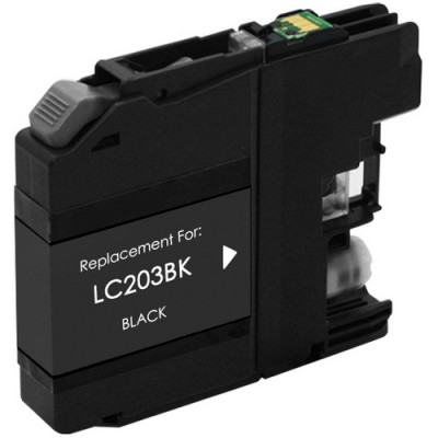 Brother compatible inkjet cartridge LC203BK black high yield