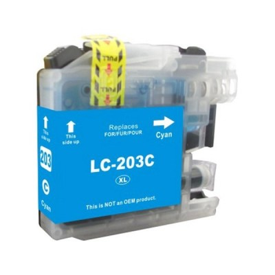 Brother compatible inkjet cartridge LC203C Cyan high yield
