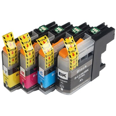Brother compatible inkjet cartridge LC203BK-C-M-Y Kit