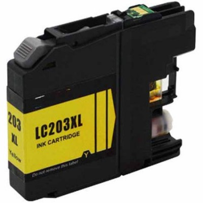 Brother compatible inkjet cartridge LC203Y Yellow high yield