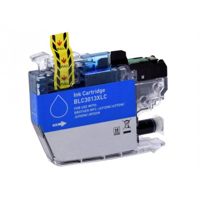 Brother compatible inkjet cartridge LC3013C cyan high yield