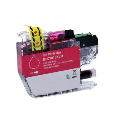 Brother compatible inkjet cartridge LC3013M magenta high yield