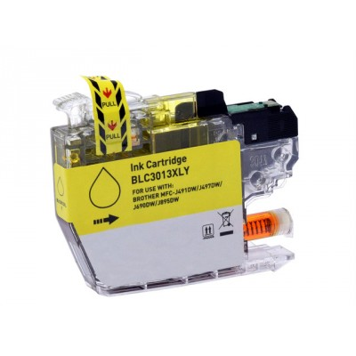 Brother compatible inkjet cartridge LC3013Y yellow high yield
