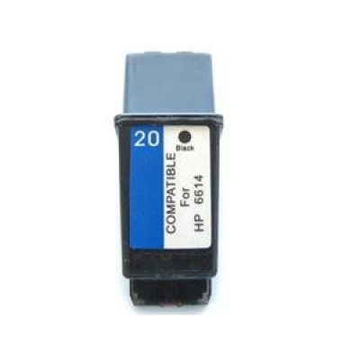 HP compatible inkjet cartridge HP 20 black C6614D