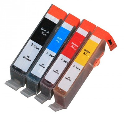 HP compatible inkjet cartridge HP 564XL four ink cartridges BK CMY kit
