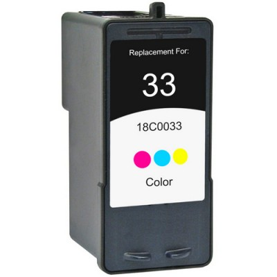 Lexmark compatible inkjet cartridge 33 color 18C0033