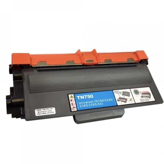 Compatible Brother black laser toner TN750 high yield
